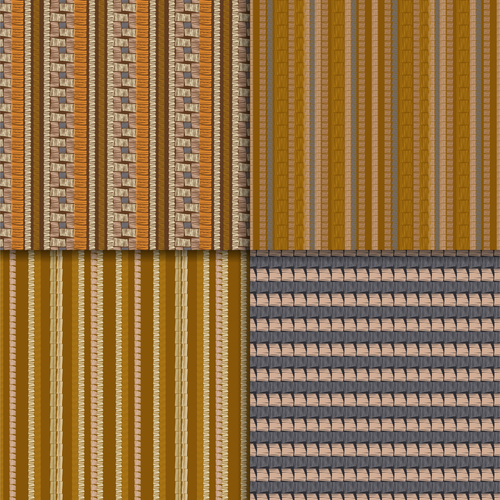 Beige seamless patterns vector