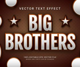 Big brothers vector text effect