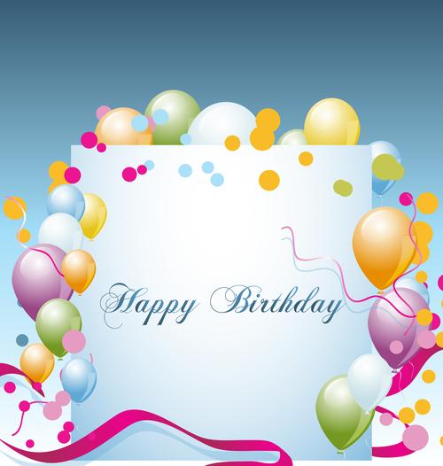 Birthday background whit vector