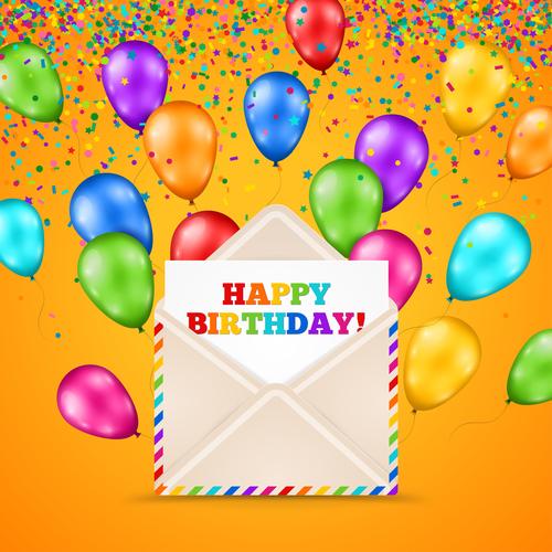 Birthday invitation card vector