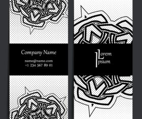 Black and white background company business card vector