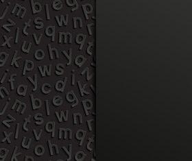 Black background left side letter vector