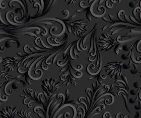 Black engraved background vector