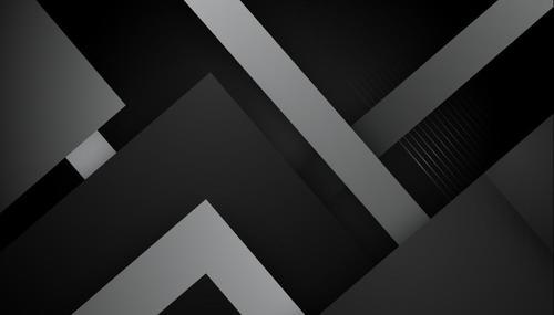 Black geometric vector background design