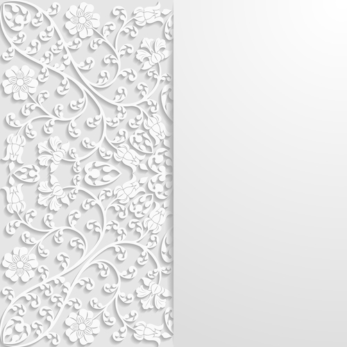 Blooming flower carved art ornament vector