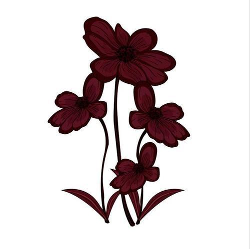 Blooming flower watercolor painting vector