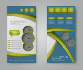 Blue and grass green background business advertising template vector