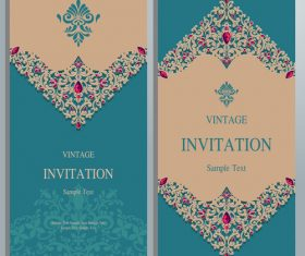 Blue background invitation card vector
