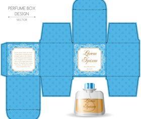 Blue packaging for perfumery in vector