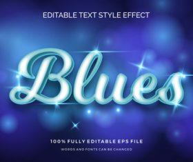 Blues editable font 3d vector