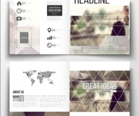 Blur background business brochure template vector