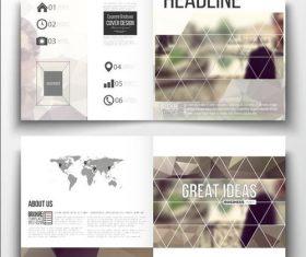 Blur background business brochure template vector