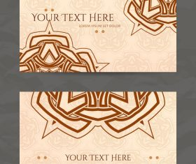 Brown company business card vector