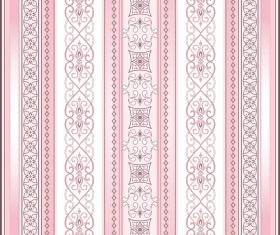 Brown decorative seamless border on a light pink background vector