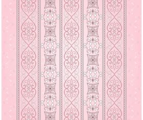 Brown vintage seamless border on a light pink background vector