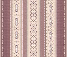 Brown vintage seamless border on light brown vector