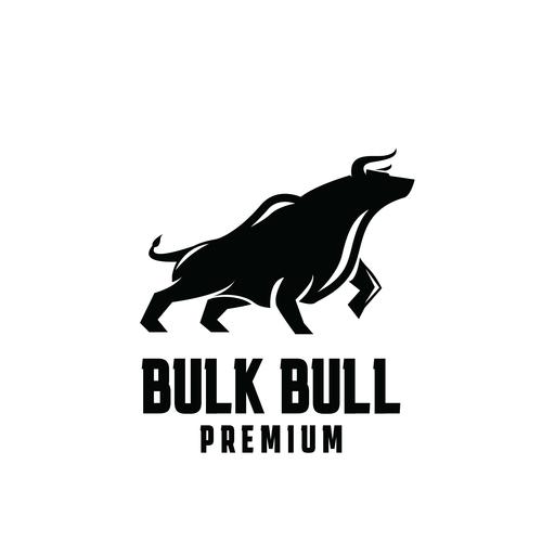 Bulk bull business logo design vector