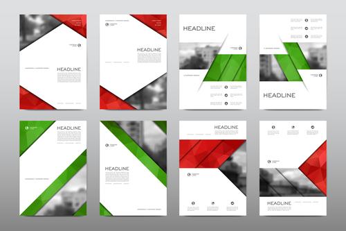 Business brochure flyer vector