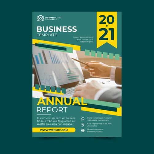 Business brochures flyers vector