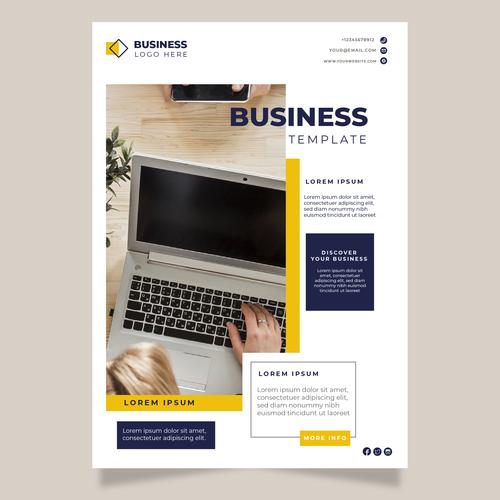 Business brochures vector