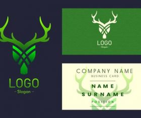Business card logo vector