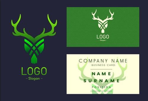 Business card logo vector