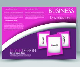 Business development ad template vector