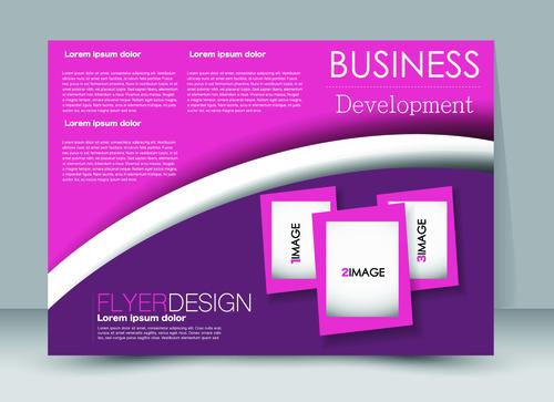 Business development ad template vector