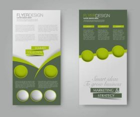 Business flyer booklet brochure template vector