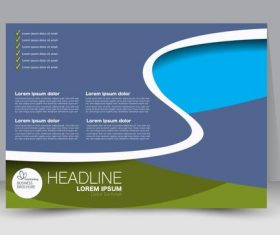 Business flyer brochure vector