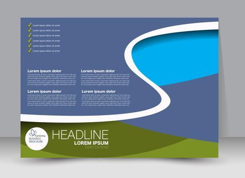 Business flyer brochure vector