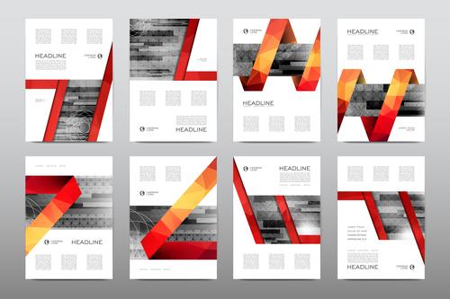 Business flyer set vector
