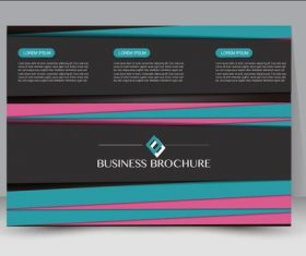 Business promote brochure design vector