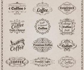 Cafe retro label vector