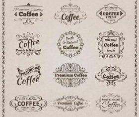 Cafe retro label vector