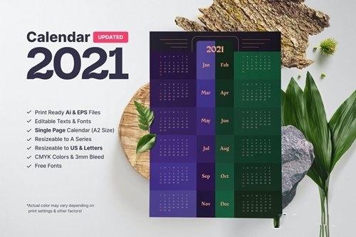 Calendar 2021 vector
