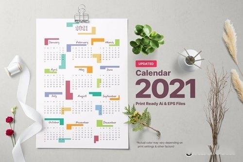 Calendar Year 2021 vector