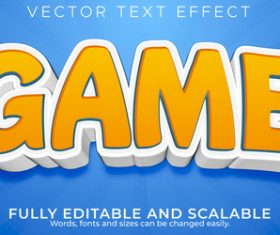 Cartoon 3d editable text style effect vector