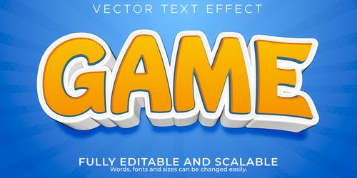 Cartoon 3d editable text style effect vector