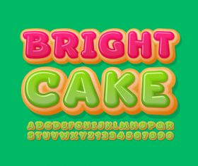 Cartoon colorful 3d font editable text style effect vector