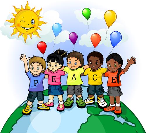 Cartoon illustration childrens wishes vector