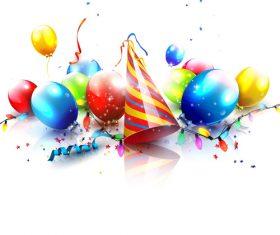 Celebrate birthday card background vector