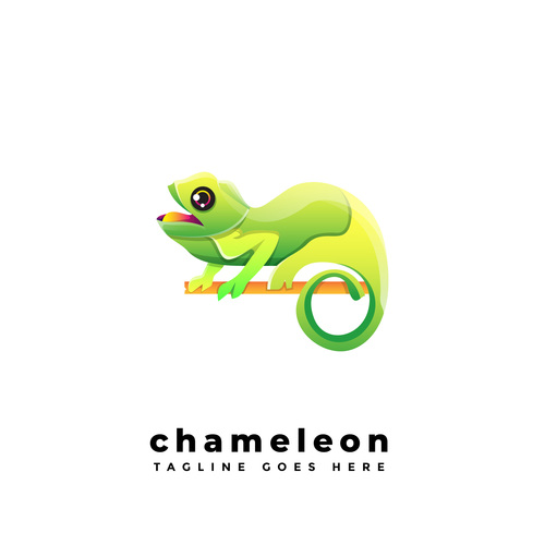 Chameleon gradient logo vector