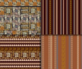 Checkered weaving seamless patterns vector