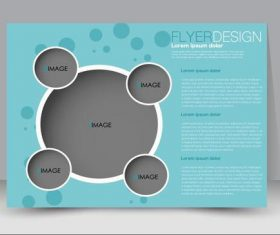Circular style business advertising template vector