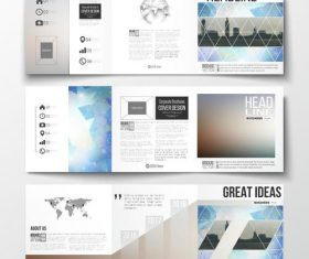 City landmark background business brochure template vector