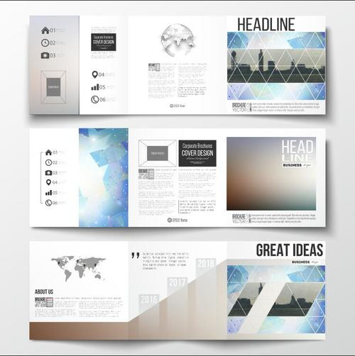 City landmark background business brochure template vector