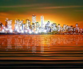 City vector silhouette