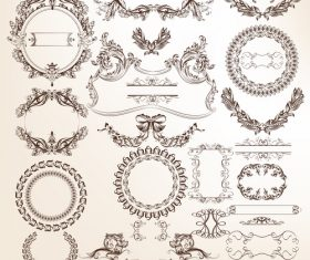Collection of vector frames for design