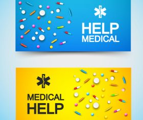 Color banner pharmacy advertisement vector